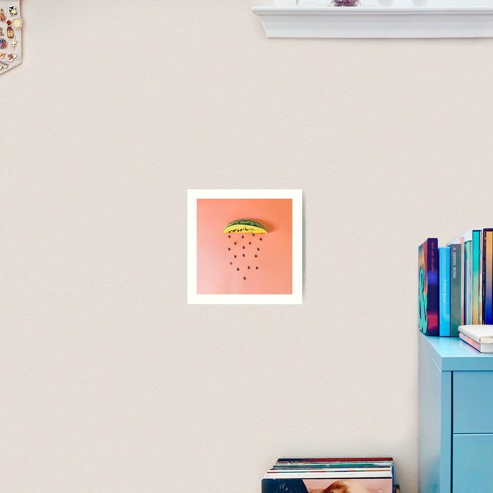 Watermelon seeds rain Art Print