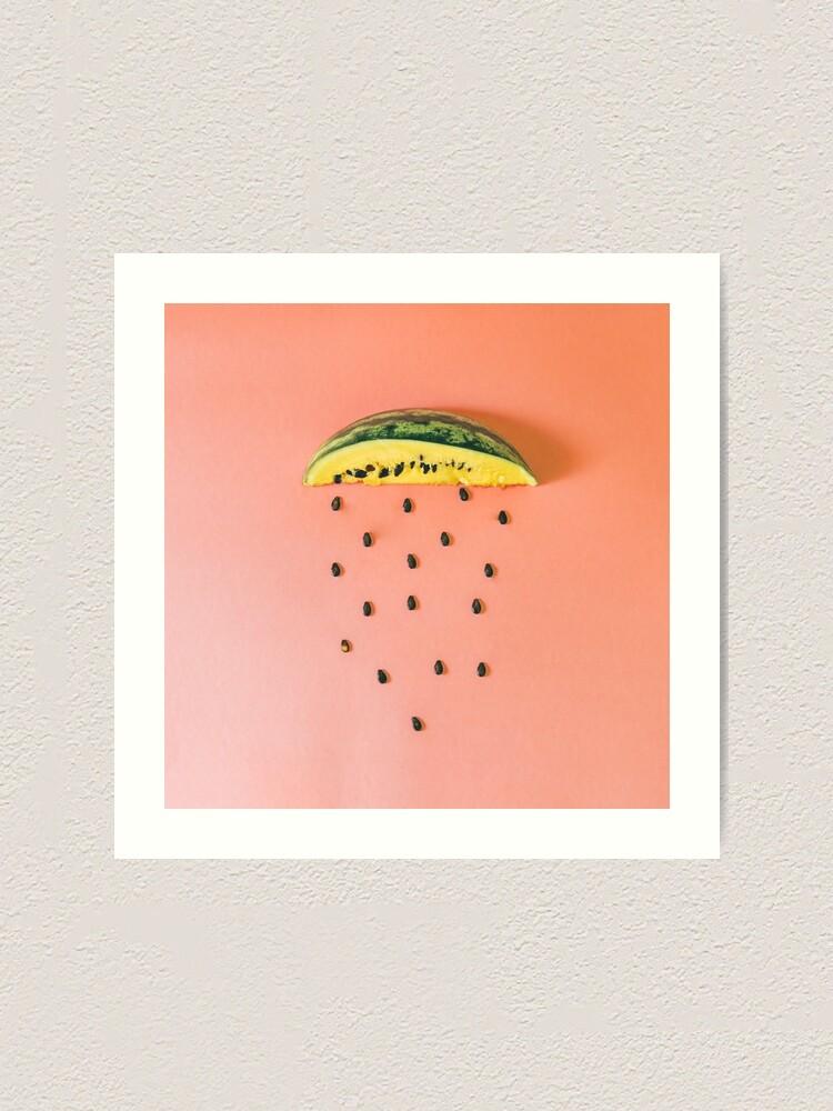Alternate view of Watermelon seeds rain Art Print