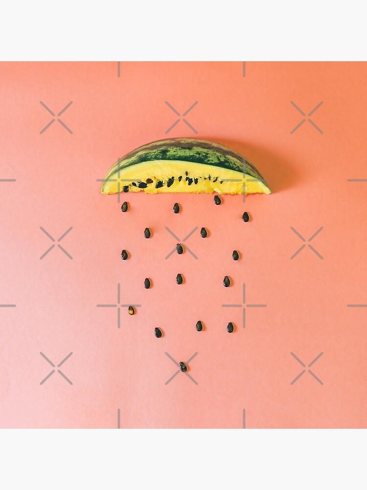 Watermelon seeds rain by KatyaHavok