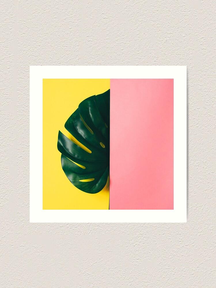 Alternate view of Half of monstera leaf Art Print