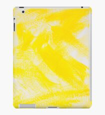 Abstract yellow painting iPad Case/Skin