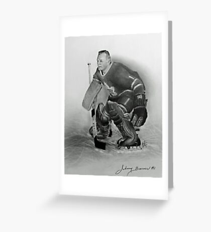 Johnny Bower Greeting Card