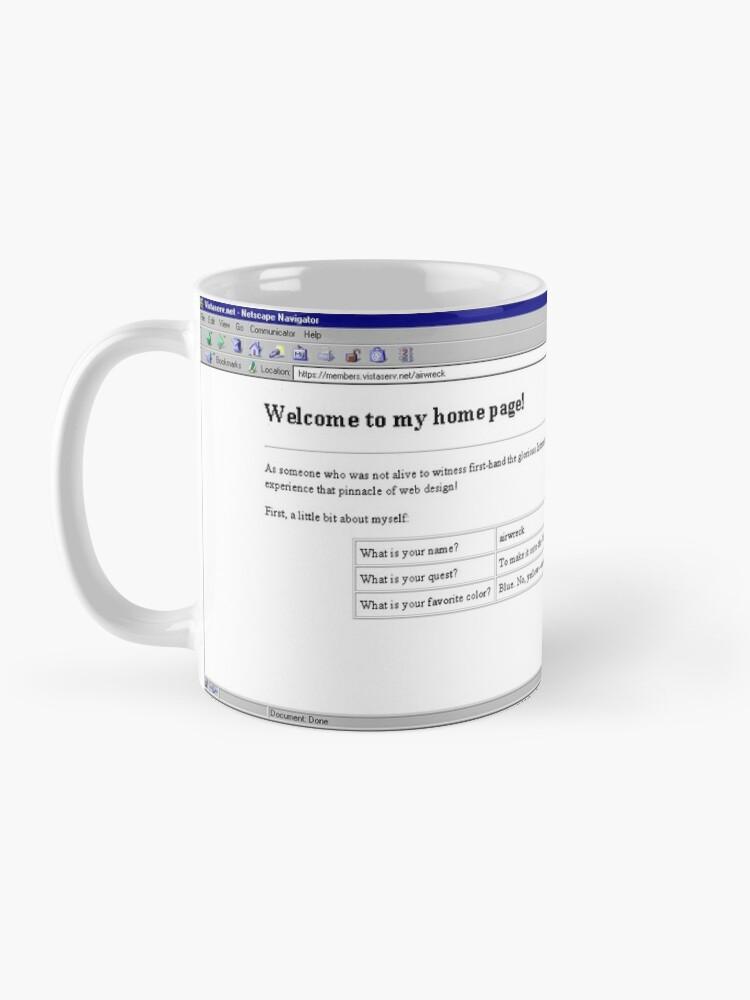 Alternate view of airwreck on Vistaserv.net Mug