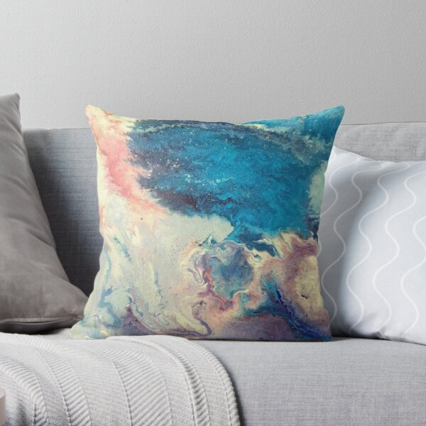 Acrylic Pour, in random pattern Throw Pillow