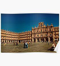 Spain. Salamanca. Plaza Mayor. Poster