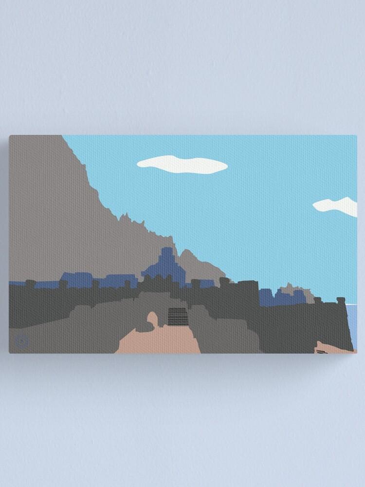 Alternate view of Skyrim Windhelm Landscape Vector Artwork Canvas Print