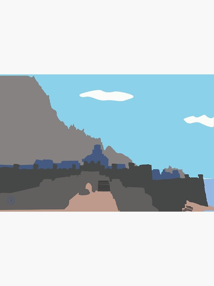 Skyrim Windhelm Landscape Vector Artwork by felixt518