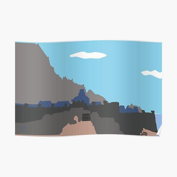 Skyrim Windhelm Landscape Vector Artwork Poster