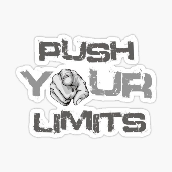 push your limits Sticker