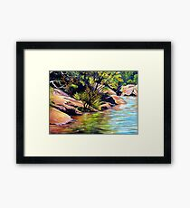 Jellybean Pool, Blue Mountains Framed Print