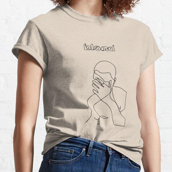 Blond Minimalistic Line Art Classic T-Shirt