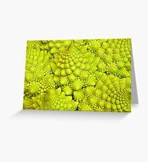 Romanesco Cauliflower Macro Greeting Card