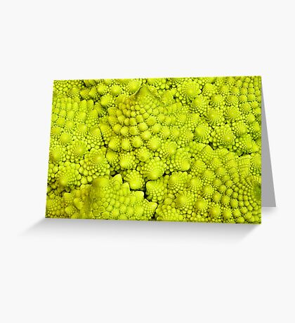 Romanesco Cauliflower Macro Greeting Card