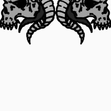 Demonic Skulls by DemonKingGrim