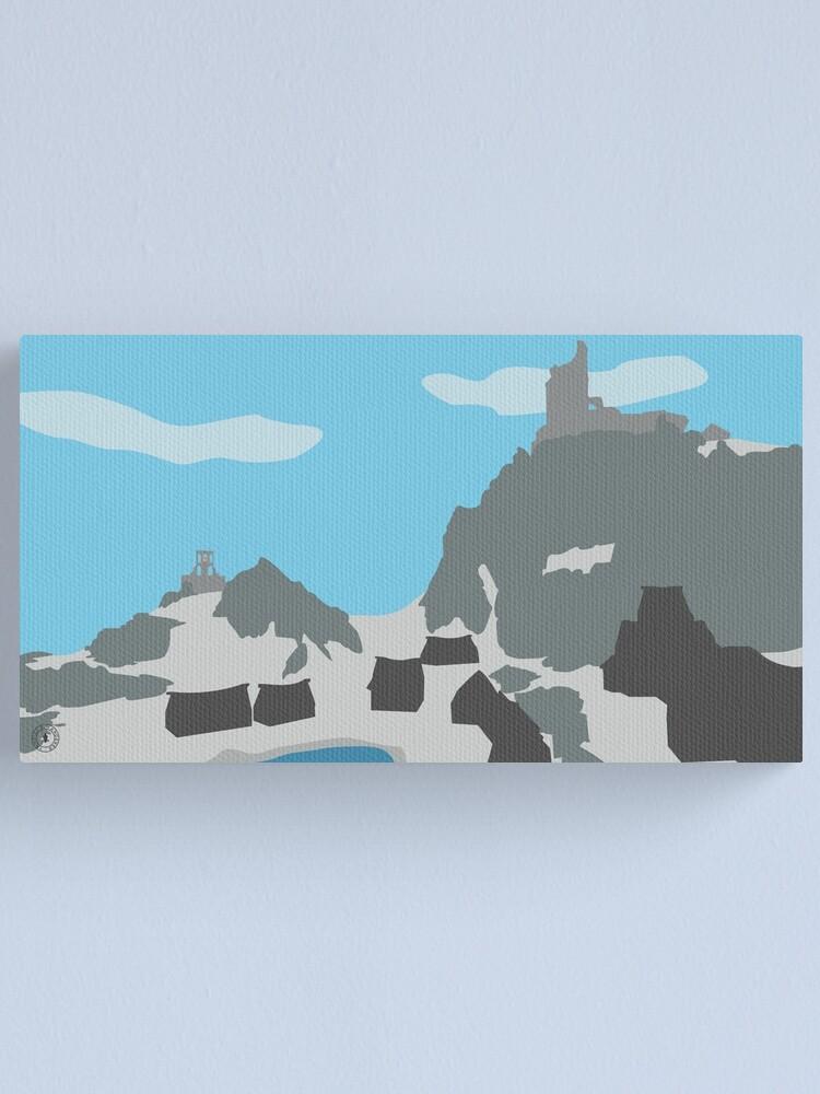 Alternate view of Skyrim Dawnstar Landscape Vector Artwork Canvas Print