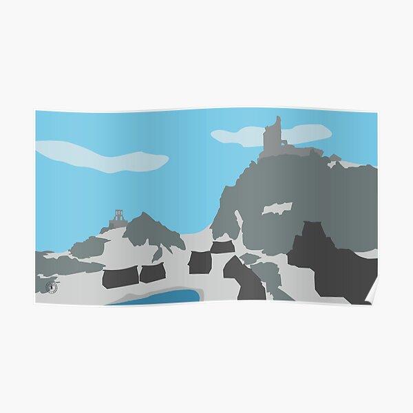 Skyrim Dawnstar Landscape Vector Artwork Poster