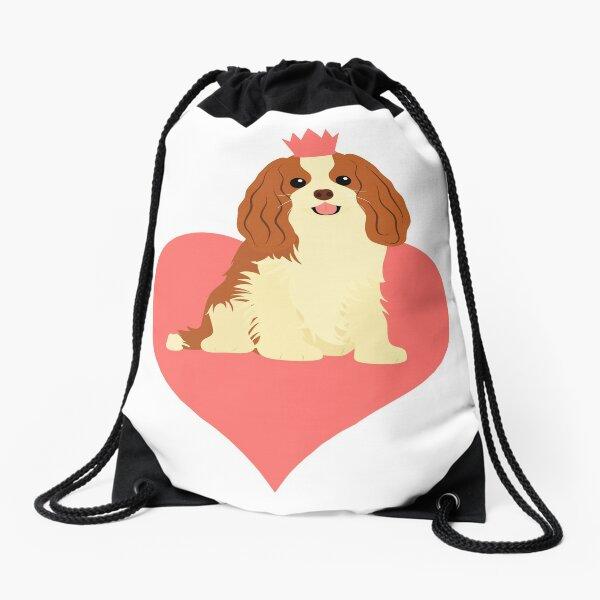 Love Cavalier King Charles Spaniel - Pink Drawstring Bag