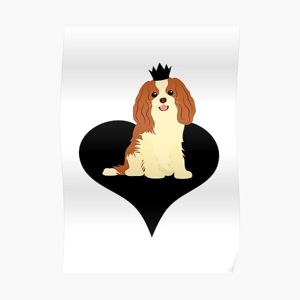 Love Cavalier King Charles Spaniel - Black Poster