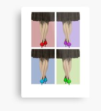 Vibrant Shoes Metal Print