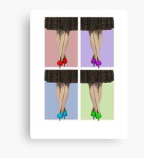 Vibrant Shoes Canvas Print