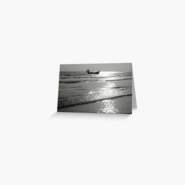 End of the day at sea  Greeting Card