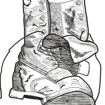 My tired old boot by bcrotty