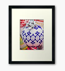 decorations for Christmas tree Framed Print