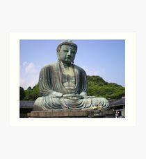 kamakura lord buddha Art Print
