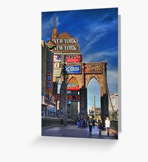 Towers and bridges Greeting Card