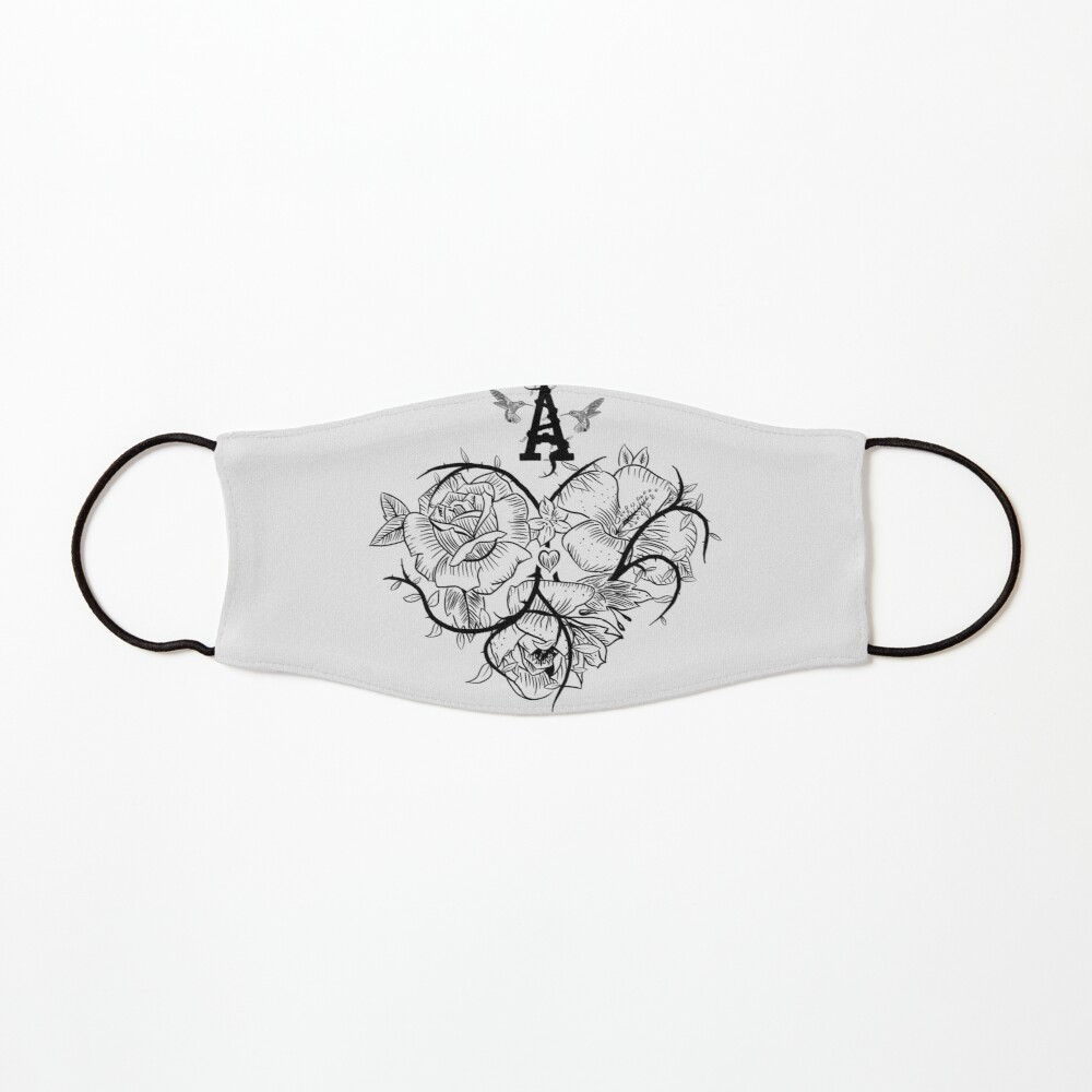 Ace of Hearts Flowers Mask