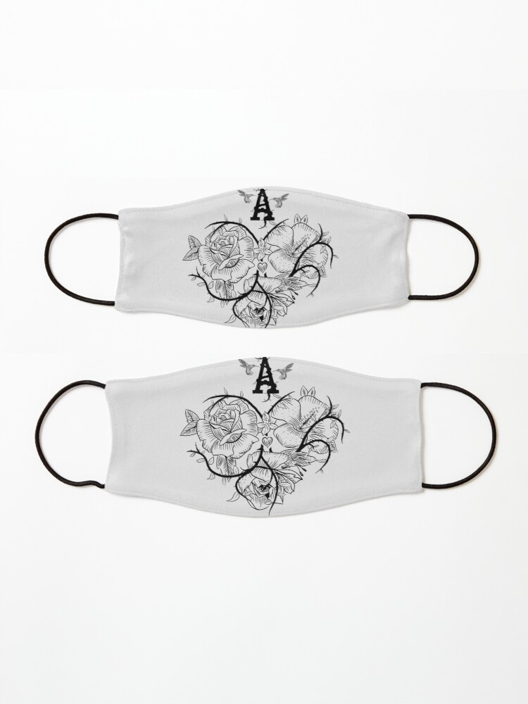 Alternate view of Ace of Hearts Flowers Mask
