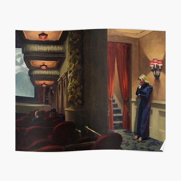 New York Movie - Edward Hopper  (1939) Poster