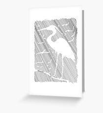 Negative Space Heron Greeting Card