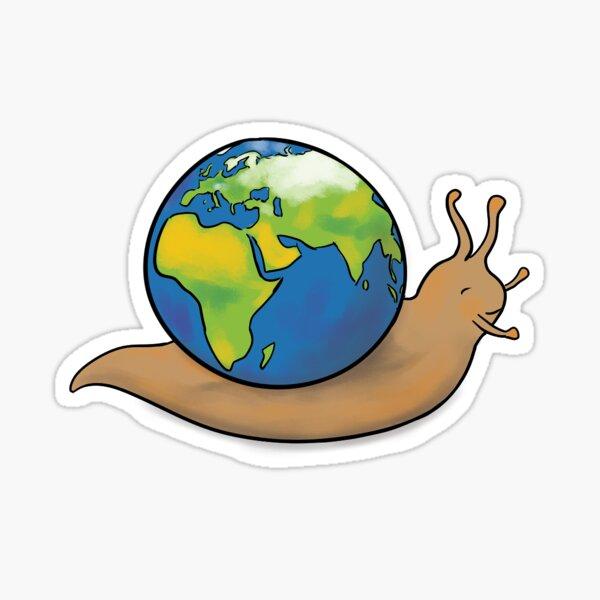 Snail Planet Sticker