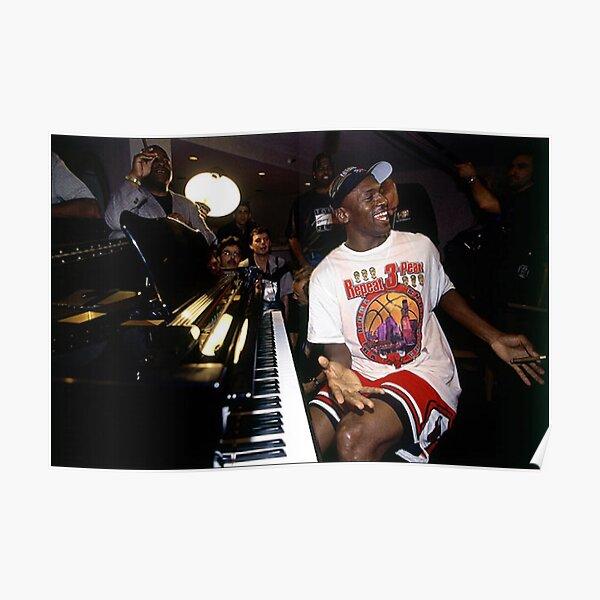 Michael Jordan at the Piano Poster
