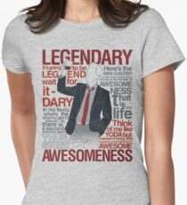 Barney Stinson - Legendary T-shirt of Awesomeness Women's Fitted T-Shirt