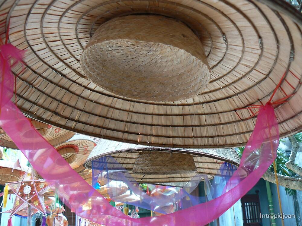 Hat with pink ribbon, Hanoi, Vietnam 2012 by Intrepidjoan
