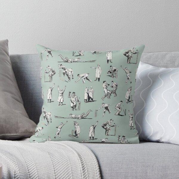 Cricket (Teal) Throw Pillow