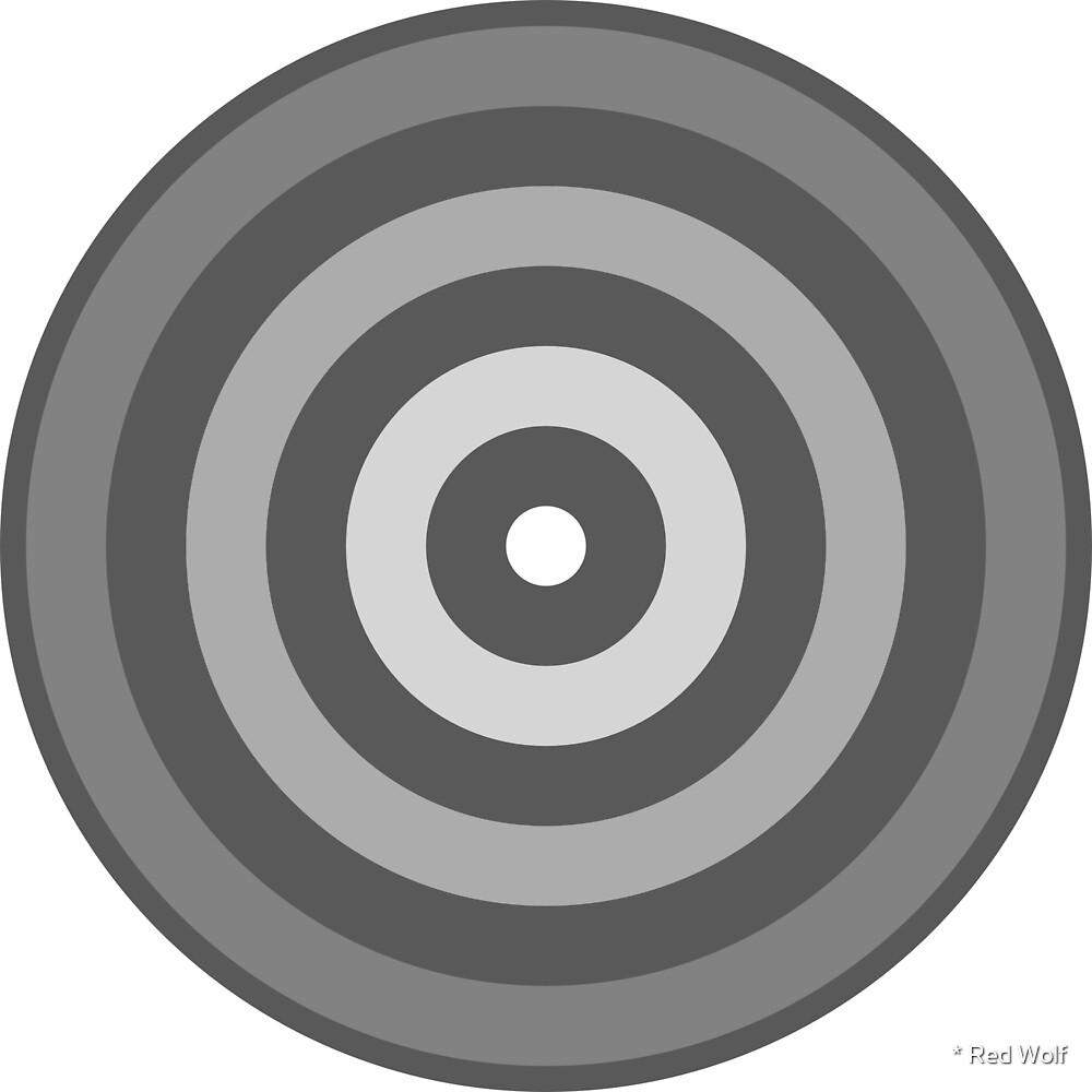 Geometric Pattern: Rondel: Monochrome Gradient Granite by * Red Wolf