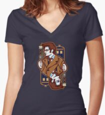 10th of Hearts Women's Fitted V-Neck T-Shirt