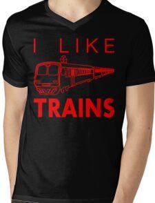 I like trains Mens V-Neck T-Shirt