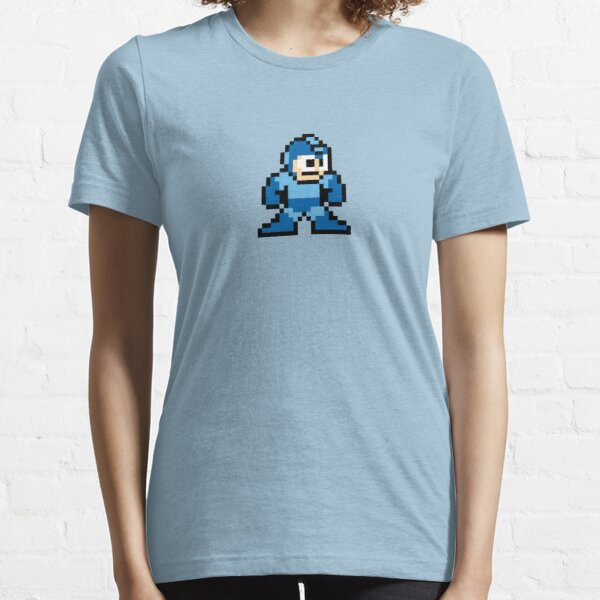 Pixel Megaman Standing Essential T-Shirt