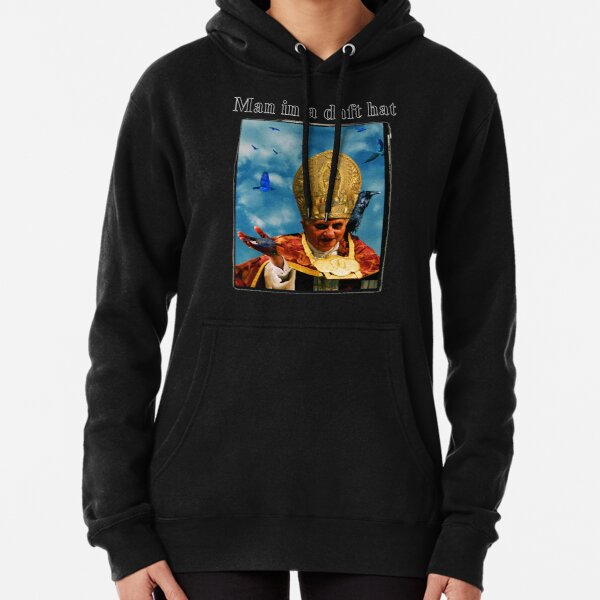 Man in a daft hat Pullover Hoodie