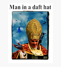 Man in a daft hat Photographic Print