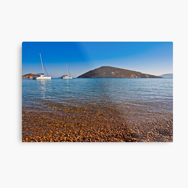 Livadhi Gheranou beach in Patmos Island Metal Print