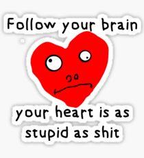 Stupid Heart Sticker