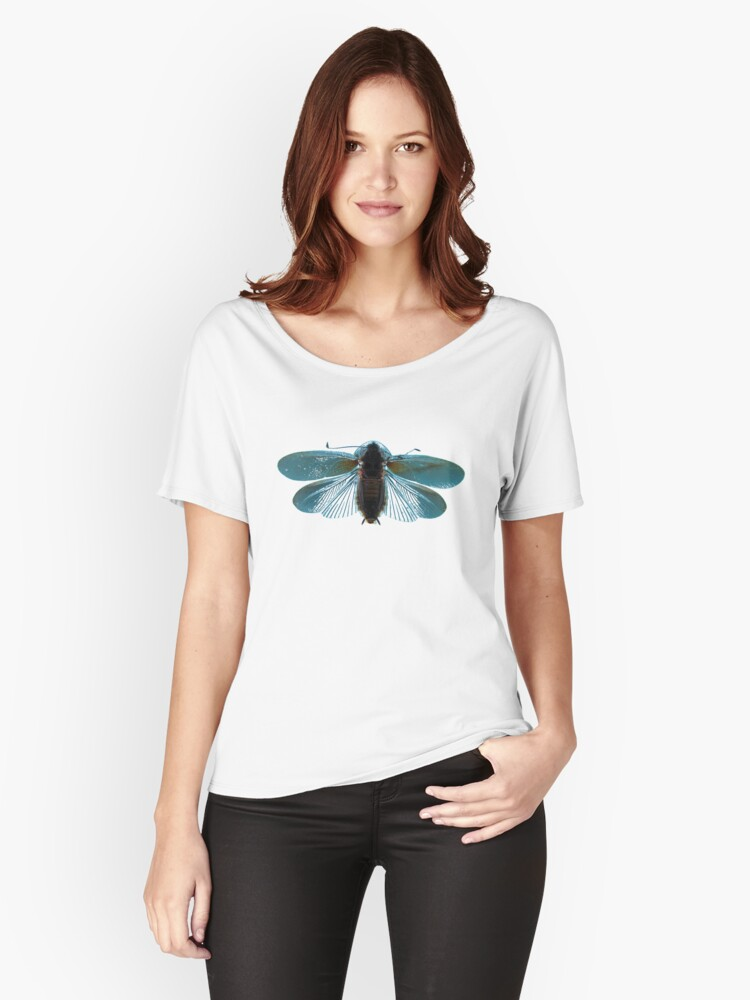 Blue Moth Women's Relaxed Fit T-Shirt Front