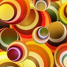 Wallpaper - retro circle background by Novi