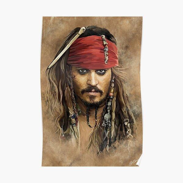 Jack Sparrow | Johnny Depp by Sam Ohana Poster