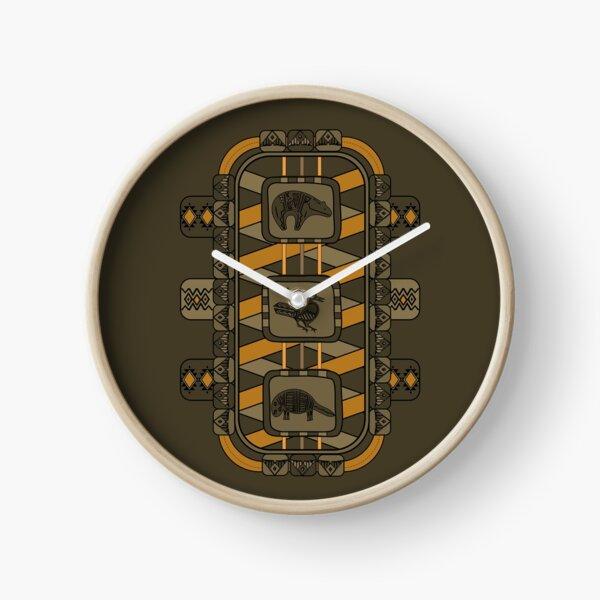 Animal Glyphs Clock